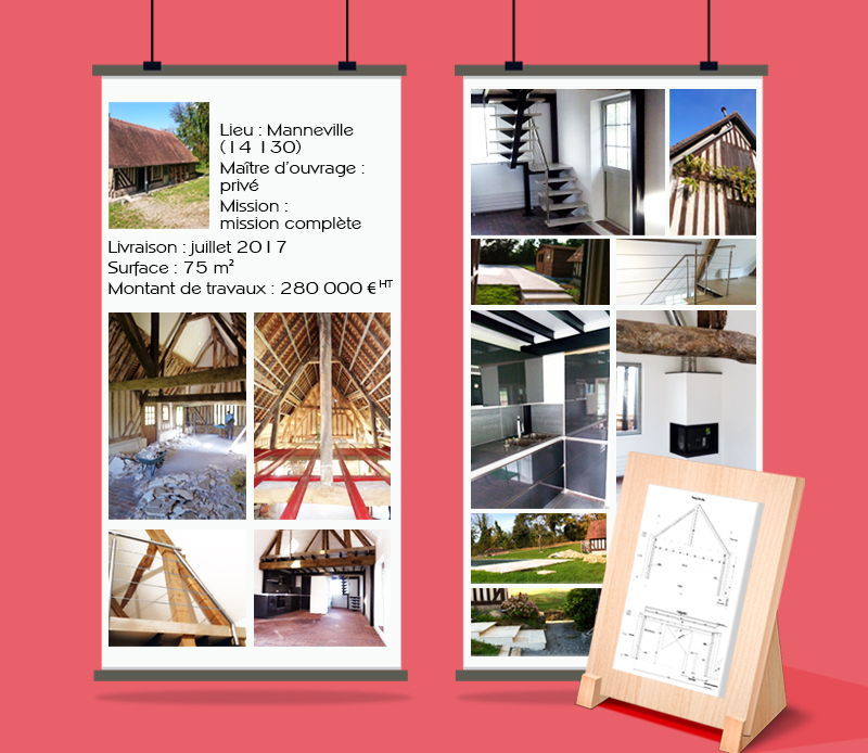 fb-archi-rehabilitation d'une maison normande, Pays d'Auge