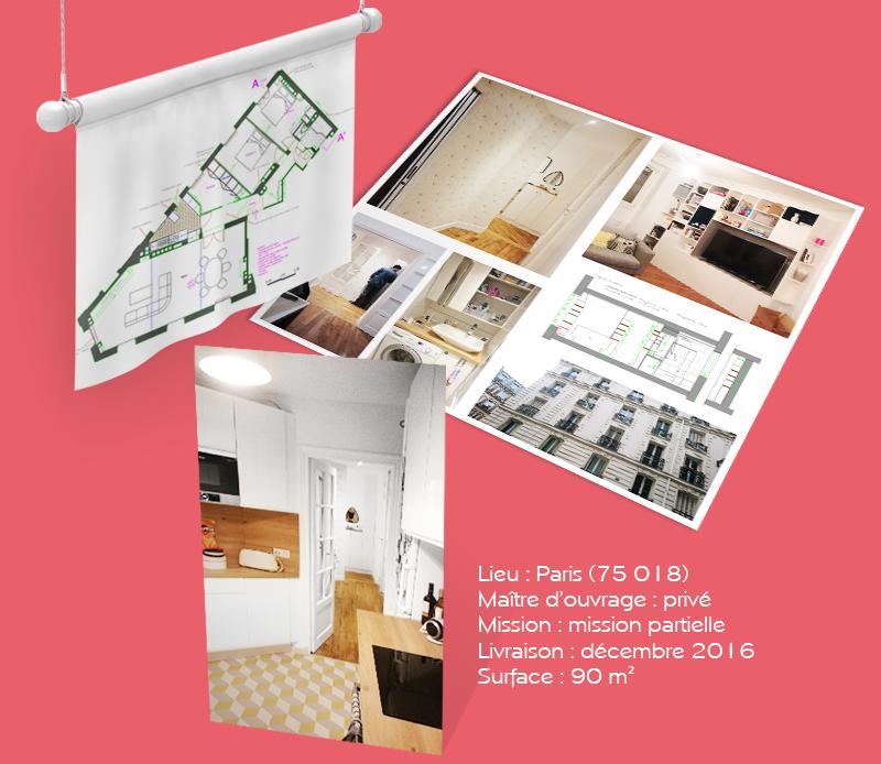 fb-archi-rehabilitation d'un appartement, Paris