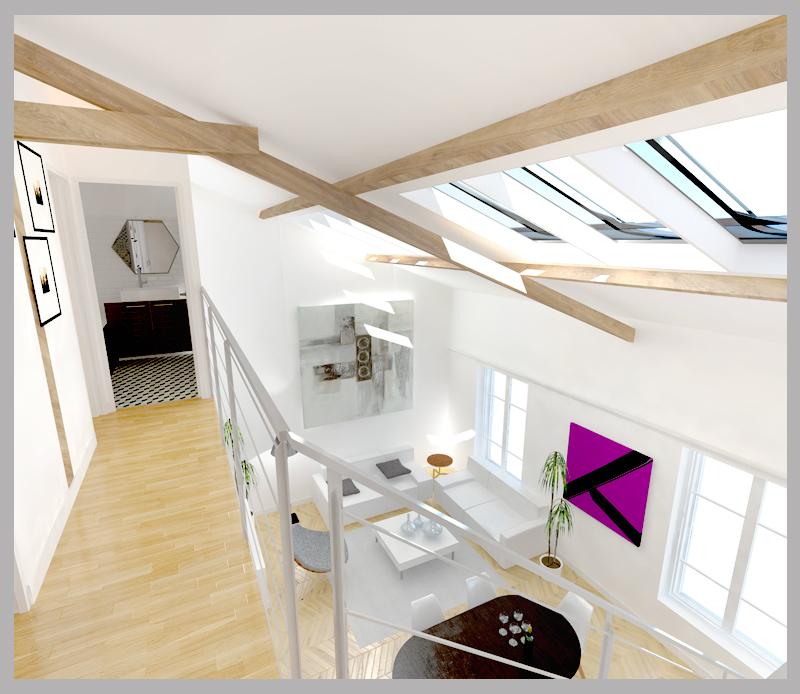 fb-archi-faisabilite-creation-duplex-courbevoie-sejour-vue-de-haut