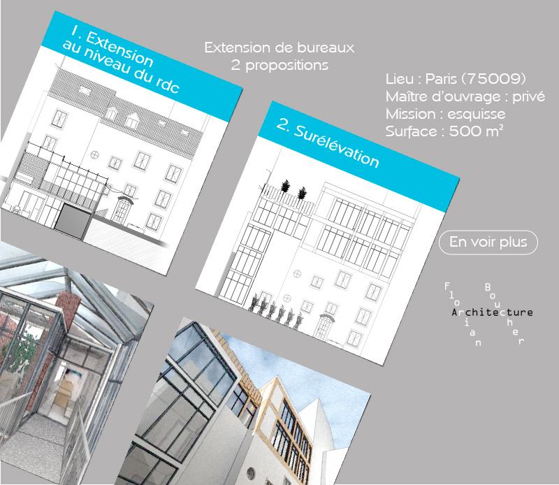 fb-archi Faisabilité bureaux rue Monier Paris